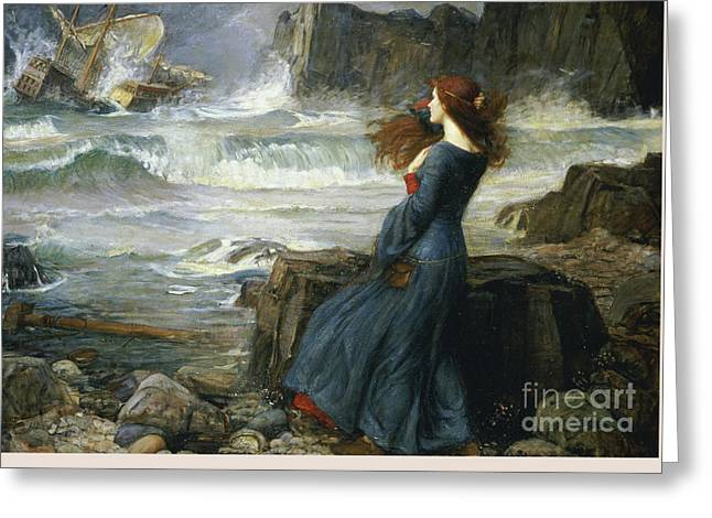 Miranda - The Tempest Greeting Card by Art Anthology