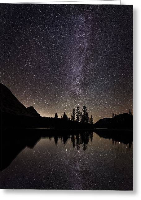 Mirror Lake Milky Way Greeting Card