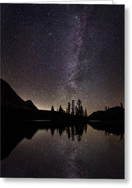 Mirror Lake Milky Way Greeting Card