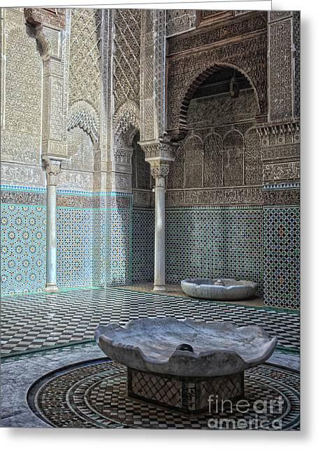 Misbahiya Medersa In Fez Greeting Card by Patricia Hofmeester