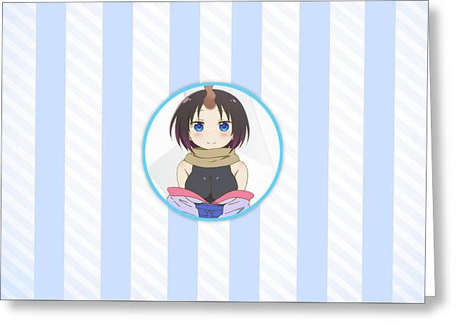 Miss Kobayashi's Dragon Maid Greeting Card