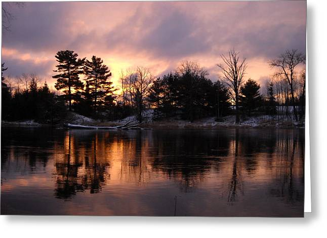 Mississippi River Dawn Light Greeting Card