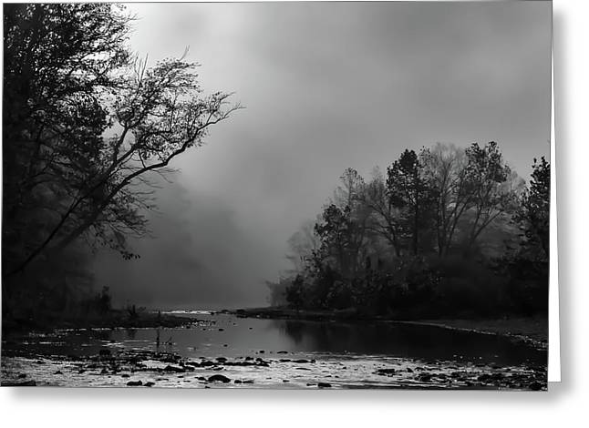 Mist On The River Greeting Card by James Barber