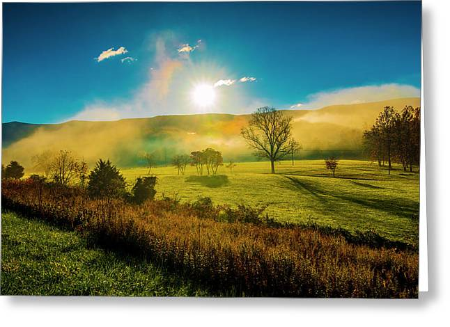 Mist Rising Greeting Card by Steven Ainsworth
