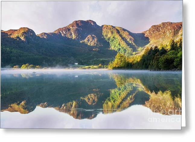 Greeting Card featuring the photograph Misty Dawn Lake by Ian Mitchell