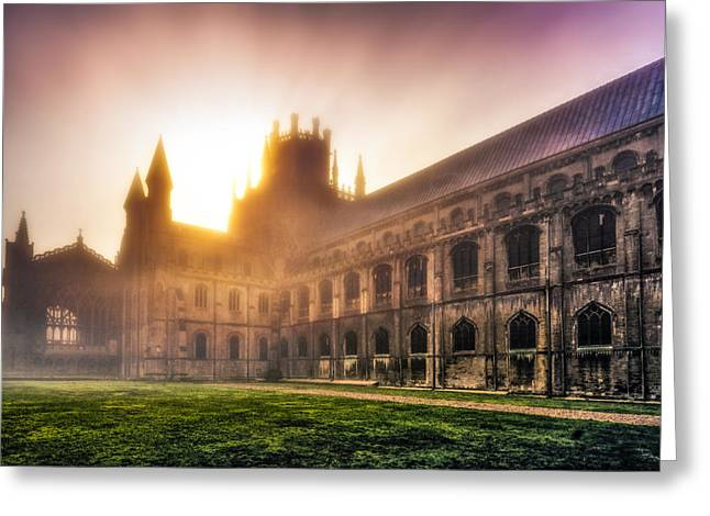 Greeting Card featuring the photograph Misty Sunrise Over The Octagon by James Billings