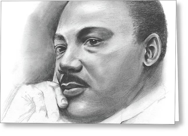 MLK Greeting Card by Greg Joens