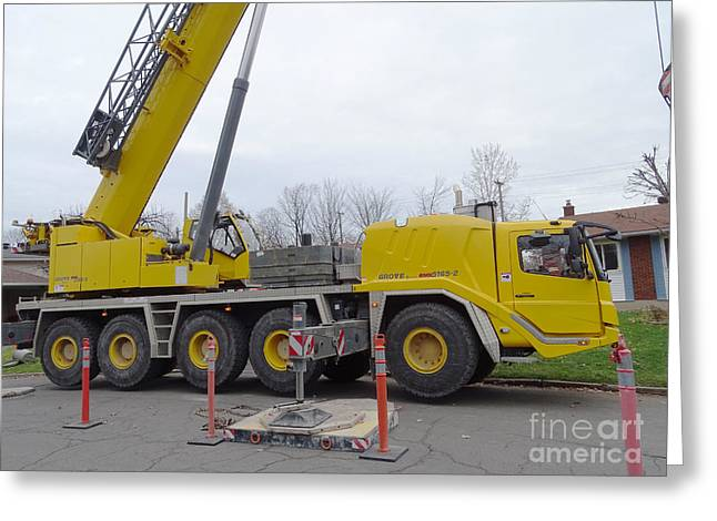 Mobile Crane Greeting Card by Scimat