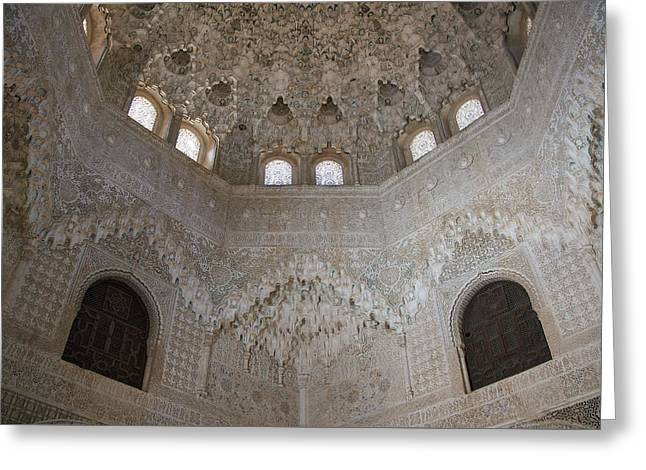 Mocarabe Ceiling, Alhambra Greeting Card