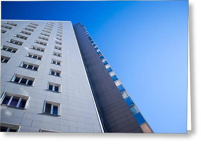 Modern Apartment Block Greeting Card by John Williams