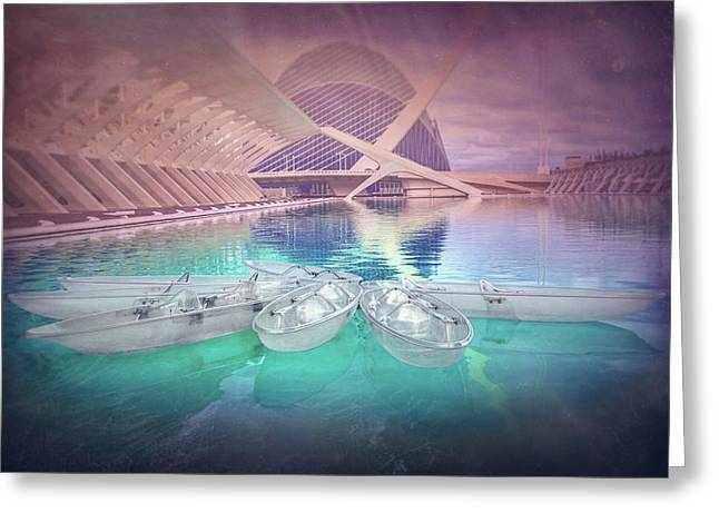 Modern Architecture Valencia Spain  Greeting Card