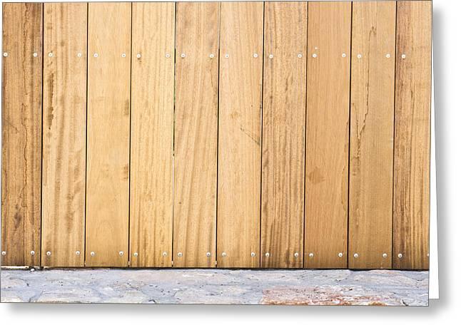 Modern Fence Greeting Card by Tom Gowanlock