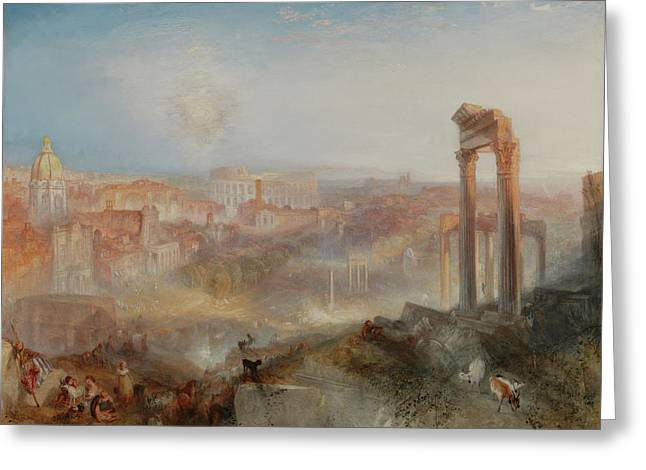 Modern Rome Campo Vaccino Greeting Card by Joseph Mallord William Turner