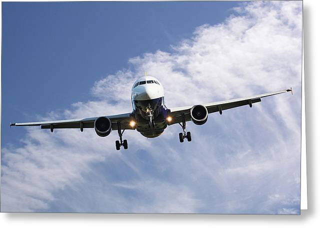 Monarch Airlines Airbus A320-214 Greeting Card