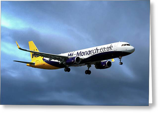 Monarch Airlines Airbus A321-231 Greeting Card