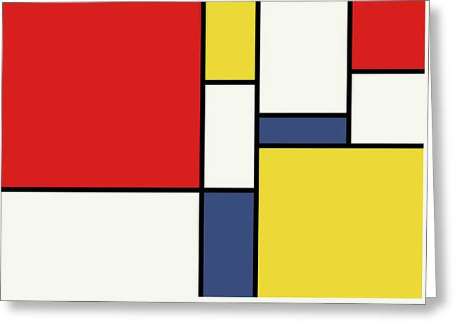 Mondrian Inspired Greeting Card