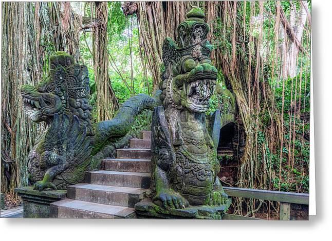 Monkey Forest Ubud - Bali Greeting Card