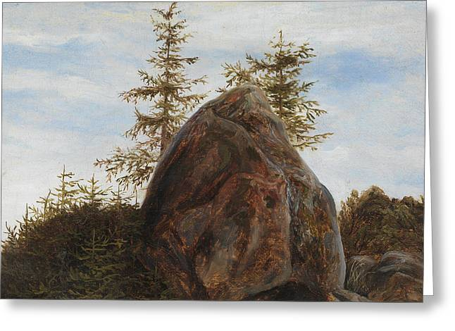 Monolith And Trees Greeting Card
