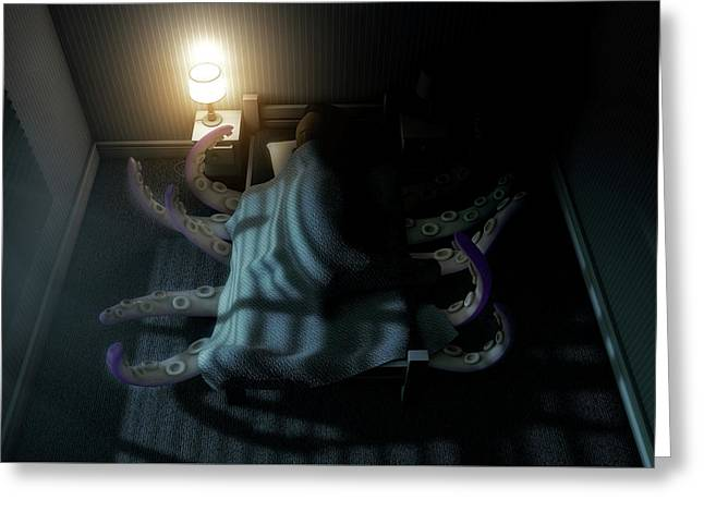 Monster Under The Bed Greeting Card