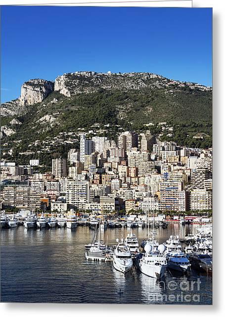 Monte Carlo Harbor Greeting Card by John Greim