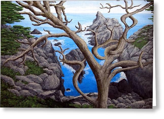 Monterey Cypress Greeting Card by Frederic Kohli