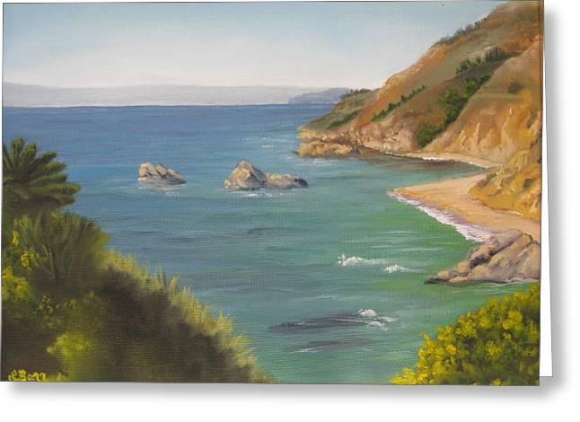 Monterey II Greeting Card by Lisa Barr