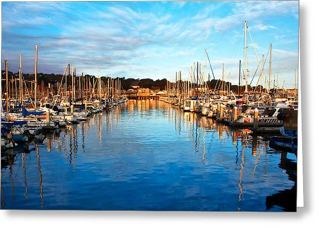 Monterey Marina, California Greeting Card