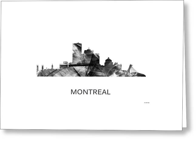 Montreal Que.skyline Greeting Card by Marlene Watson