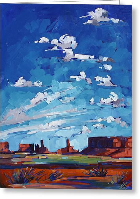 Monument Sky Greeting Card by Erin Hanson