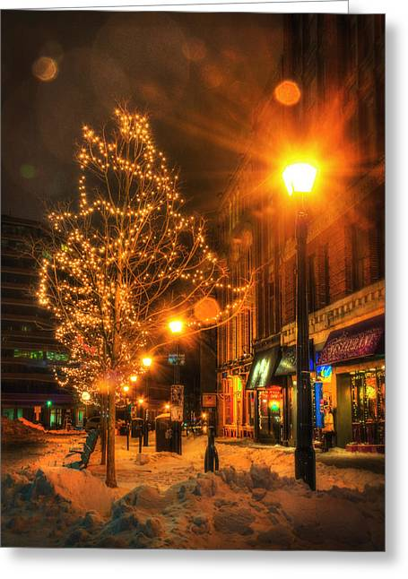 Monument Square - Portland Maine Greeting Card