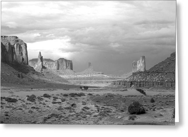 Monument Valley Afternoon Greeting Card by Troy Montemayor