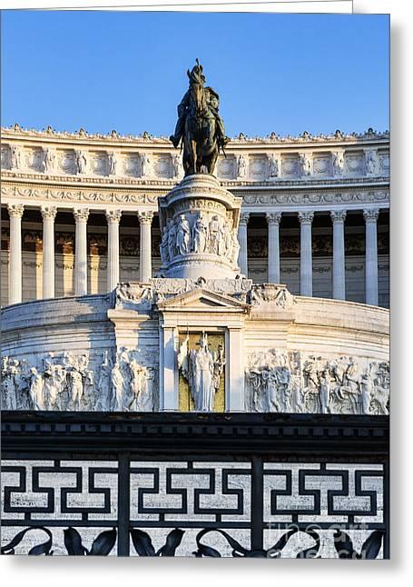 Monumento A Vittorio Emanuele II Greeting Card by John Greim