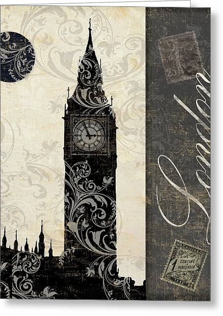 Moon Over London Greeting Card