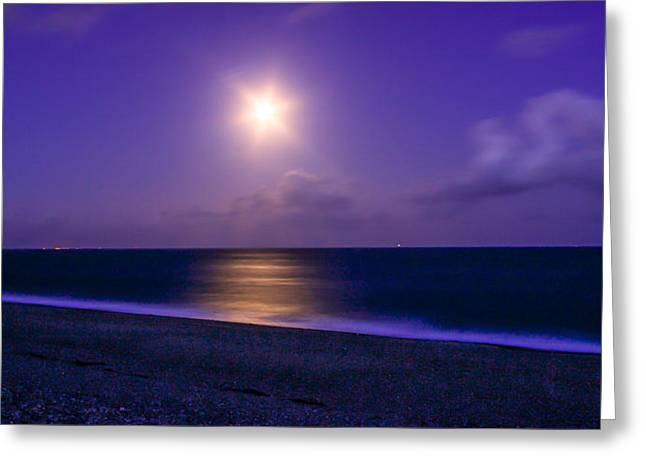 Moonlight Greeting Card by Angela Aird