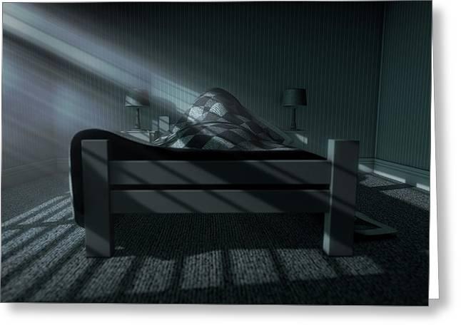 Moonlight Sleep In Greeting Card by Allan Swart