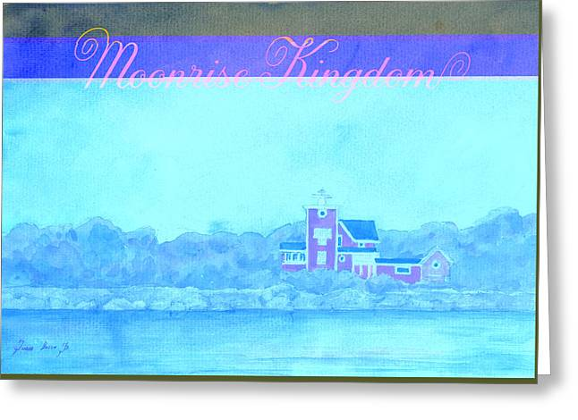 Moonrise Kingdom Poster From Watercolor Greeting Card