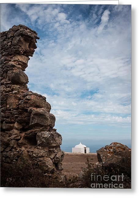 Moorish Chapel Greeting Card by Carlos Caetano