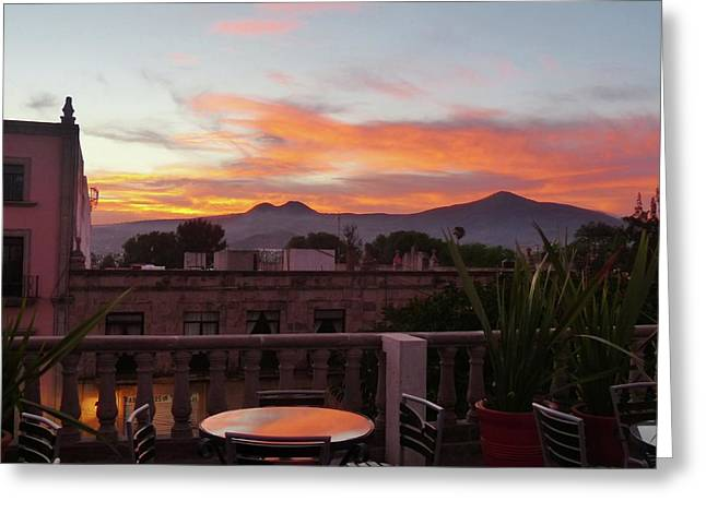 Morelia Sunset Greeting Card