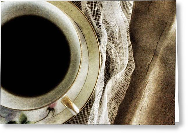 Greeting Card featuring the photograph Morning Coffee by Bonnie Bruno