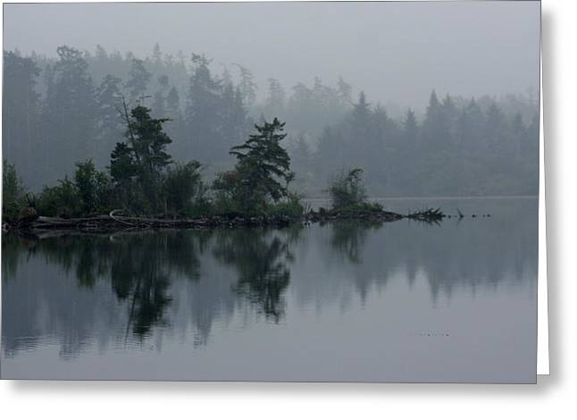 Morning Fog Over Cranberry Lake Greeting Card