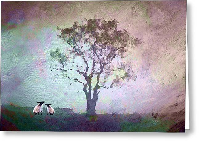 Greeting Card featuring the digital art Morning Has Broken by Jean Moore