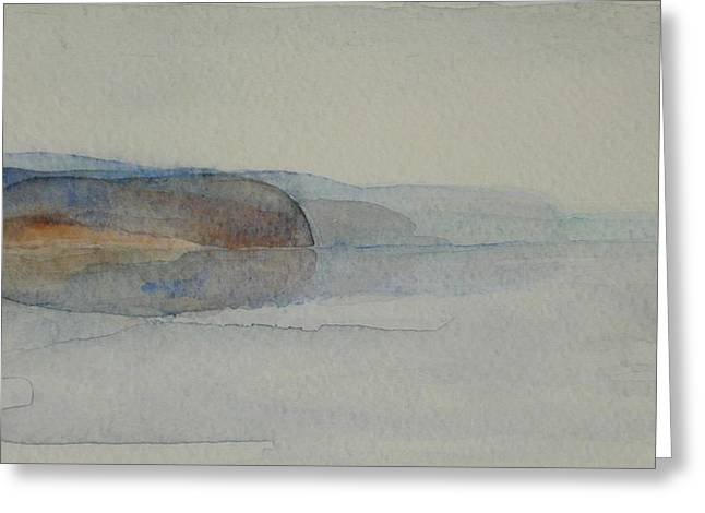 Morning Haze In The Swedish Archipelago On The Westcoast. Up To 36 X 23 Cm Greeting Card