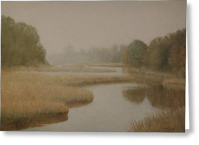 Morning Mist    Ct Greeting Card by David Olander