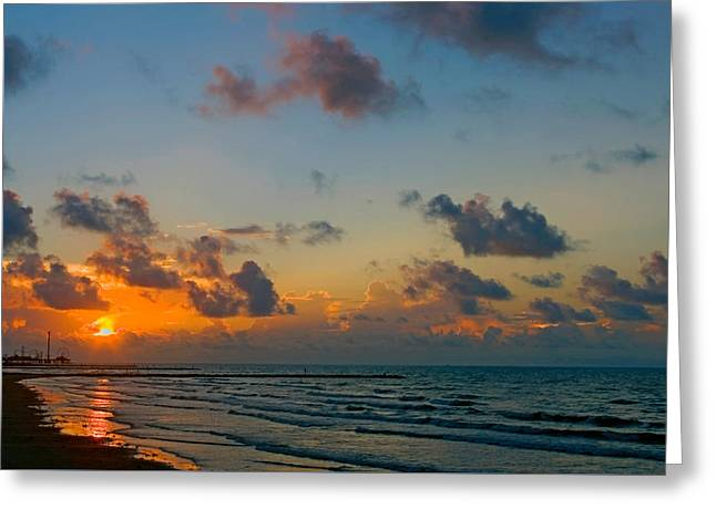Morning On The Beach Greeting Card