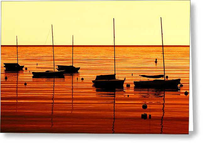 Morning Over Rockport Greeting Card by Todd Klassy