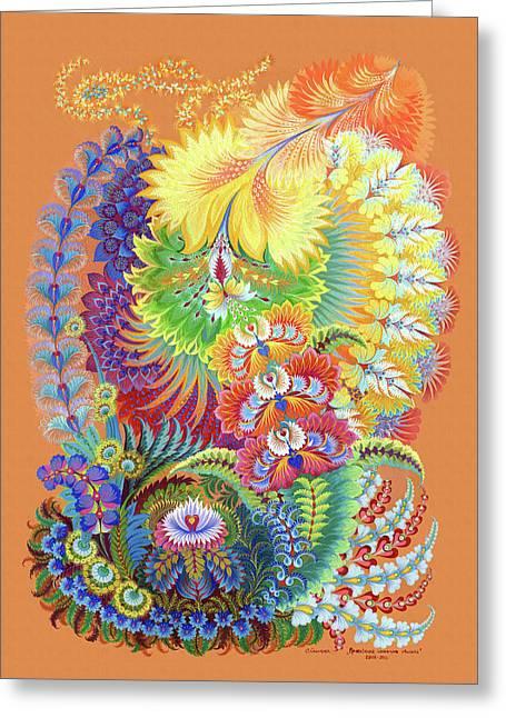 Morning Sunny Wave Greeting Card by Olena Skytsiuk