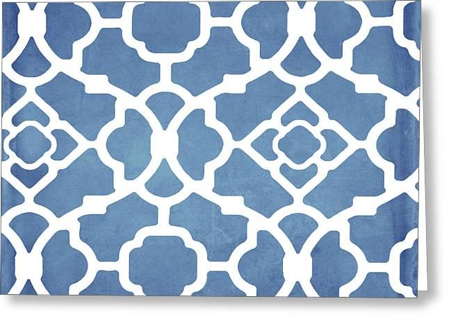 Moroccan Blues Greeting Card