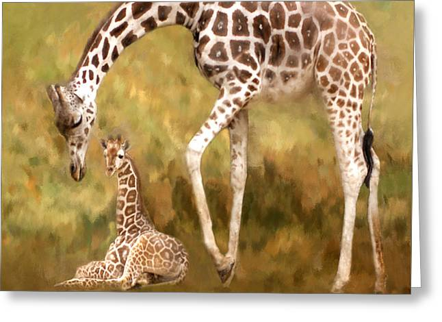 Mother And Child Greeting Card by Jack Zulli
