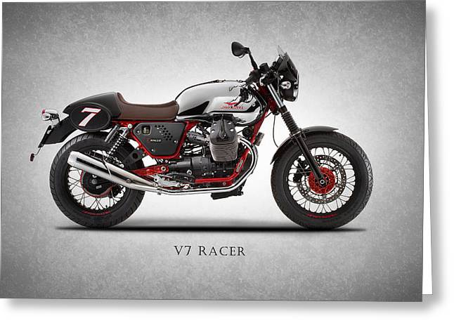 Moto Guzzi V7 Racer Greeting Card
