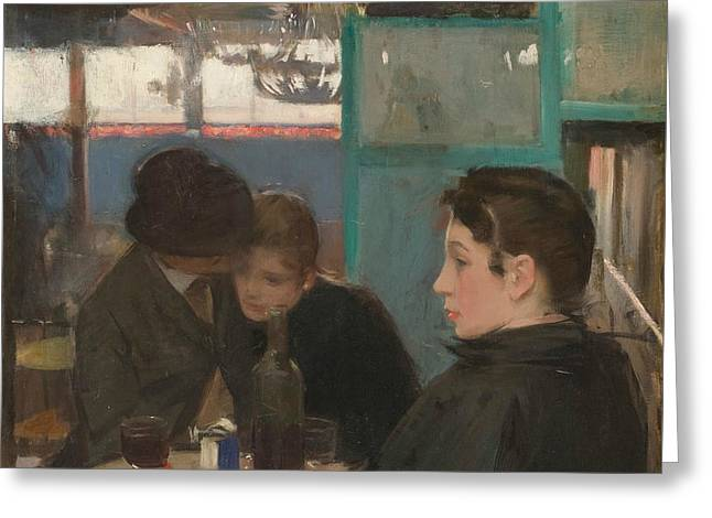 Moulin De La Galette Interior Greeting Card by Ramon Casas